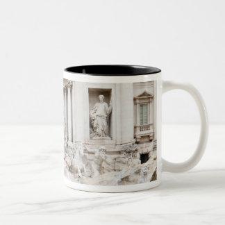 The Trevi Fountain (Italian: Fontana di Trevi) Two-Tone Coffee Mug