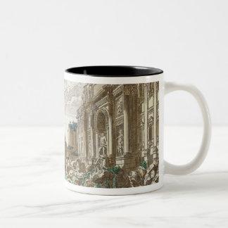 The Trevi Fountain, Rome Two-Tone Coffee Mug