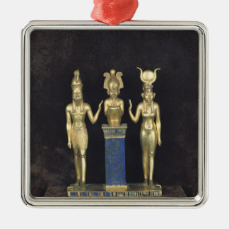 The Triad of Osorkon II, reign of Osorkon II Square Metal Christmas Ornament