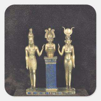 The Triad of Osorkon II, reign of Osorkon II Square Sticker