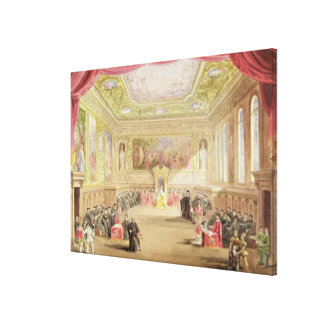 The Trial, Act IV, Scene I from Charles Kean's pro Canvas Print