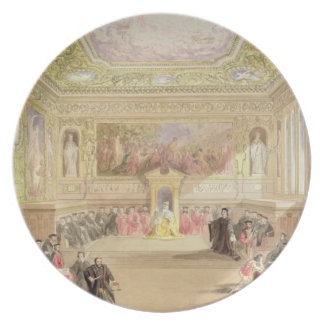 The Trial, Act IV, Scene I from Charles Kean's pro Dinner Plate