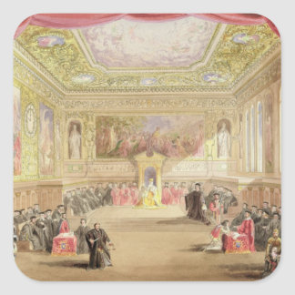 The Trial, Act IV, Scene I from Charles Kean's pro Square Sticker