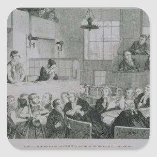 The Trial at the Old Bailey, plate 5 of 'The Drunk Square Sticker