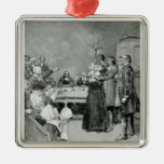 The Trial of a Witch Metal Ornament