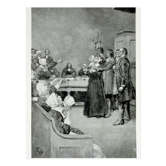 The Trial of a Witch Postcard