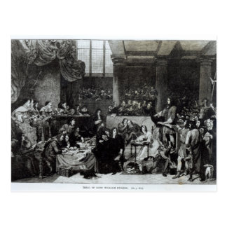 The Trial of Lord William Russell Postcard