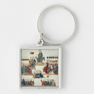 The Trial of Robert d'Artois , Count of Silver-Colored Square Keychain