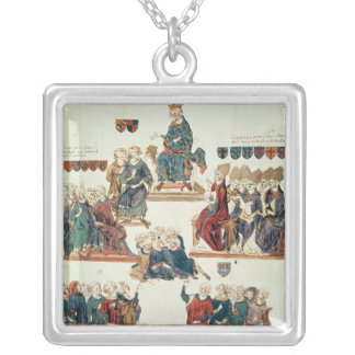 The Trial of Robert d'Artois , Count of Square Pendant Necklace