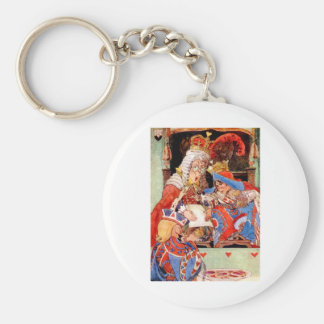 THE TRIAL OF THE KNAVE OF HEARTS BASIC ROUND BUTTON KEYCHAIN