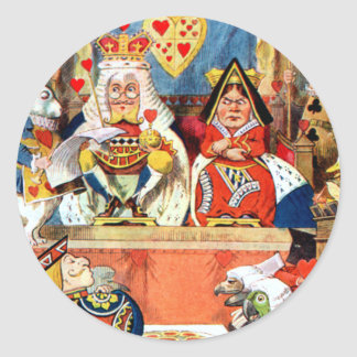 The Trial of the Knave of Hearts Classic Round Sticker