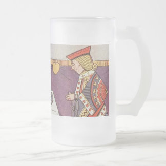 The Trial of the Knave of Hearts Frosted Glass Beer Mug