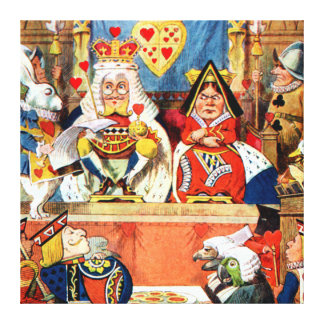 The Trial of the Knave of Hearts in Wonderland Canvas Print