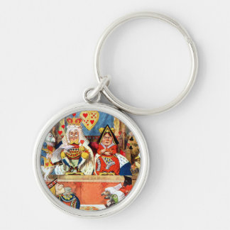 The Trial of the Knave of Hearts Silver-Colored Round Keychain