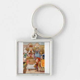 The Trial of The Knave of Hearts Silver-Colored Square Keychain