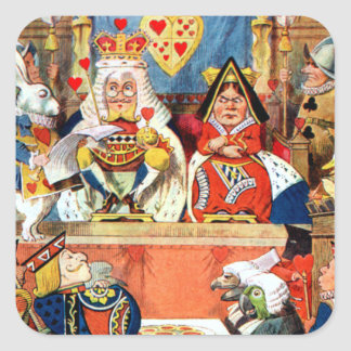 The Trial of the Knave of Hearts Square Sticker