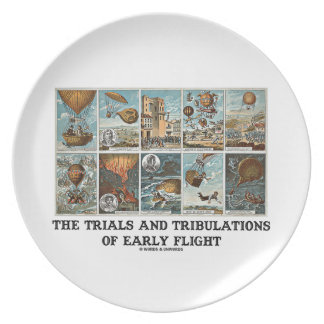 The Trials And Tribulations Of Early Flight Dinner Plate