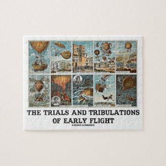 The Trials And Tribulations Of Early Flight Jigsaw Puzzle