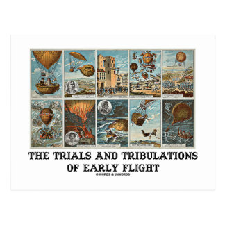 The Trials And Tribulations Of Early Flight Postcard