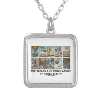 The Trials And Tribulations Of Early Flight Square Pendant Necklace
