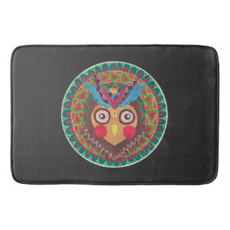 The Tribal Great Horned Owl Bathroom Mat