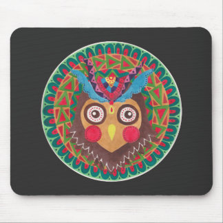 The Tribal Great Horned Owl Mouse Pad