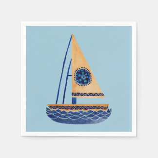 The Tribal Sailboat Paper Napkin