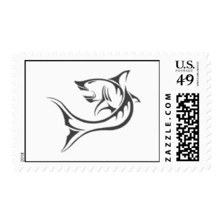 The tribal shark tattoo stamp