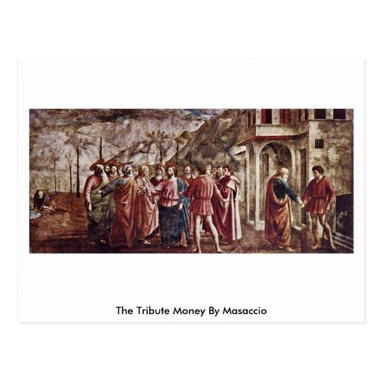 The Tribute Money By Masaccio Postcard