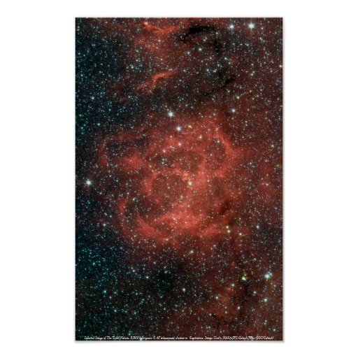 The Trifid Nebula, Infrared Poster