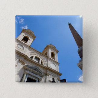The Trinita dei Monti church in Rome, Italy is Button