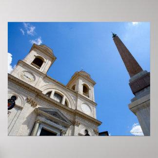 The Trinita dei Monti church in Rome, Italy is Poster