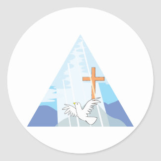 The Trinity - God the Father Son and Holy Spirit Classic Round Sticker