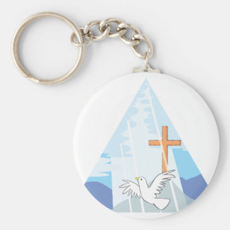 The Trinity - God the Father Son and Holy Spirit Keychain