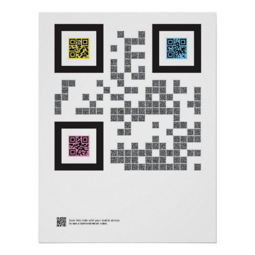 The Trinity in QR Code Poster