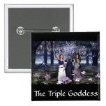 The Triple Goddess 2 Inch Square Button