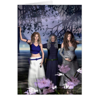 The Triple Goddess Greeting Card