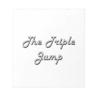 The Triple Jump Classic Retro Design Note Pad