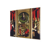 The Triptych of Moses and the Burning Bush Canvas Prints