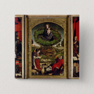 The Triptych of Moses and the Burning Bush Pinback Button