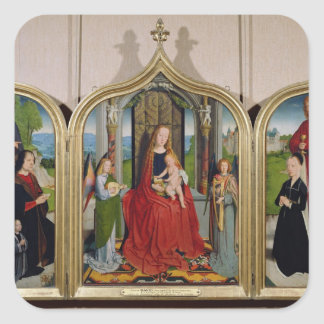 The Triptych of the Sedano Family, c.1495-98 Square Sticker