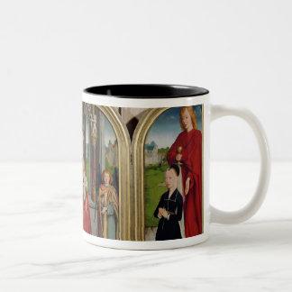 The Triptych of the Sedano Family, c.1495-98 Two-Tone Coffee Mug