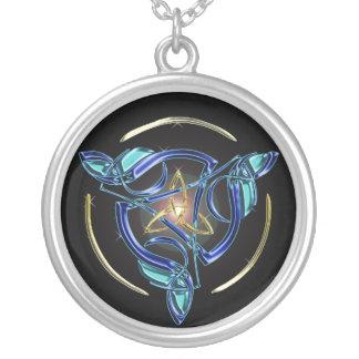 The Triquetra Round Pendant Necklace