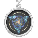 The Triquetra Silver Plated Necklace