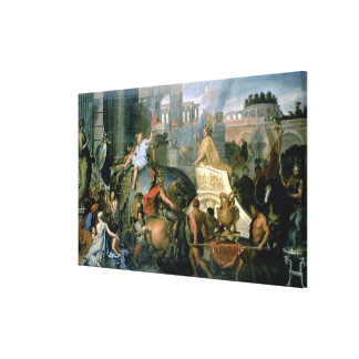The Triumph of Alexander, or the Entrance of Alexa Stretched Canvas Print
