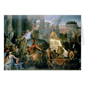 The Triumph of Alexander, or the Entrance of Alexa Card