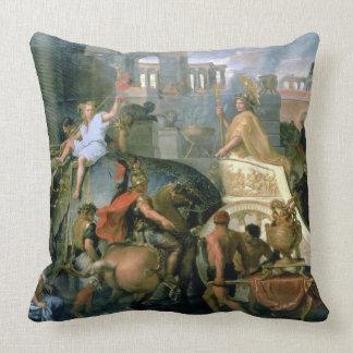 The Triumph of Alexander, or the Entrance of Alexa Throw Pillow