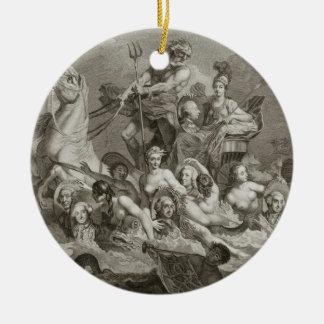 The Triumph of Britannia, c.1765 (engraving) Ceramic Ornament