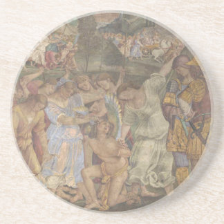 The Triumph of Chastity - Love Disarmed and Bound Sandstone Coaster