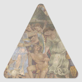 The Triumph of Chastity - Love Disarmed and Bound Triangle Sticker